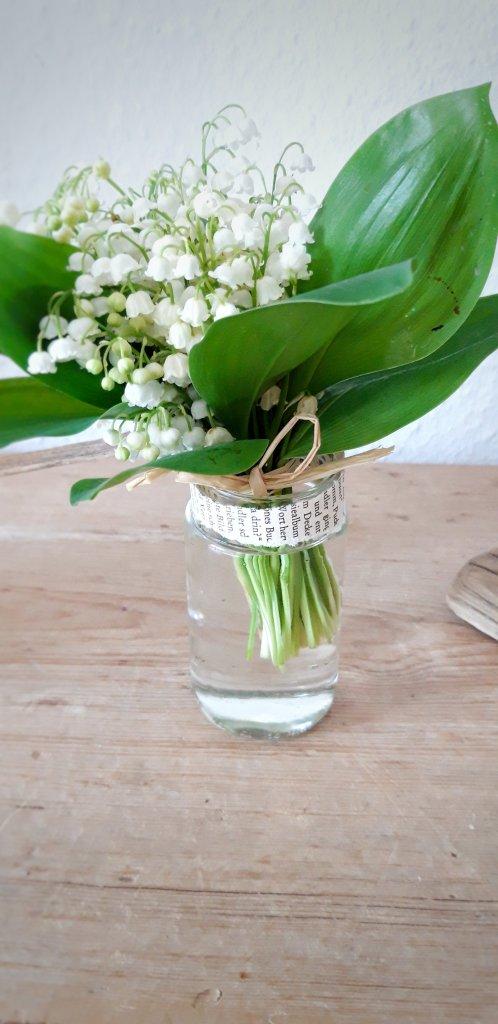 Vase aus Einmachglas
