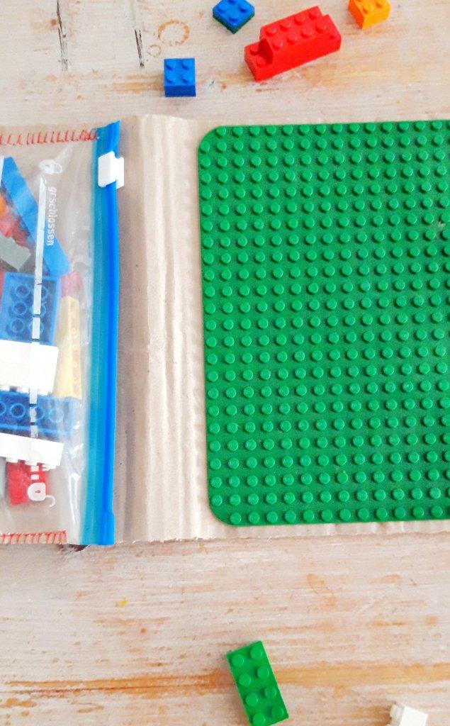 Reisetasche für Kinder Upcycling Wellpappe Zipperbeutel