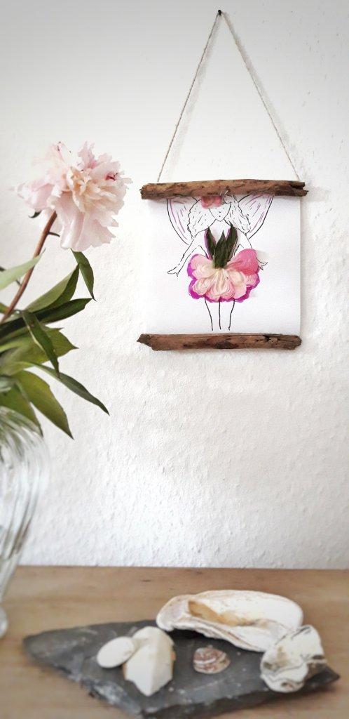 Hölzer getrocknete Blüten DIY
