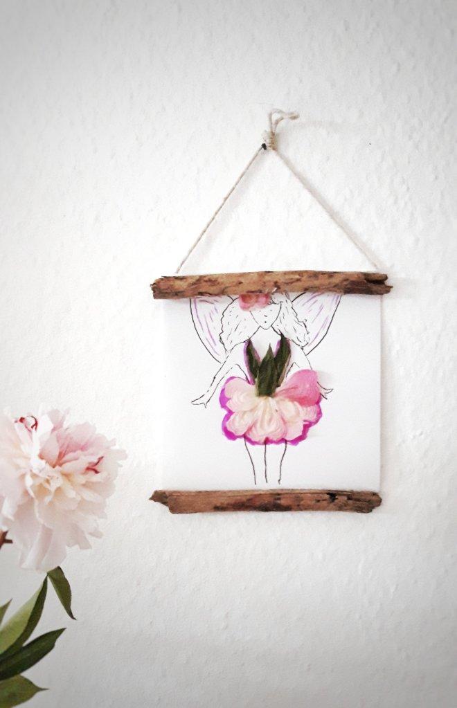 Upcycling DIY Idee getrocknete Blüten