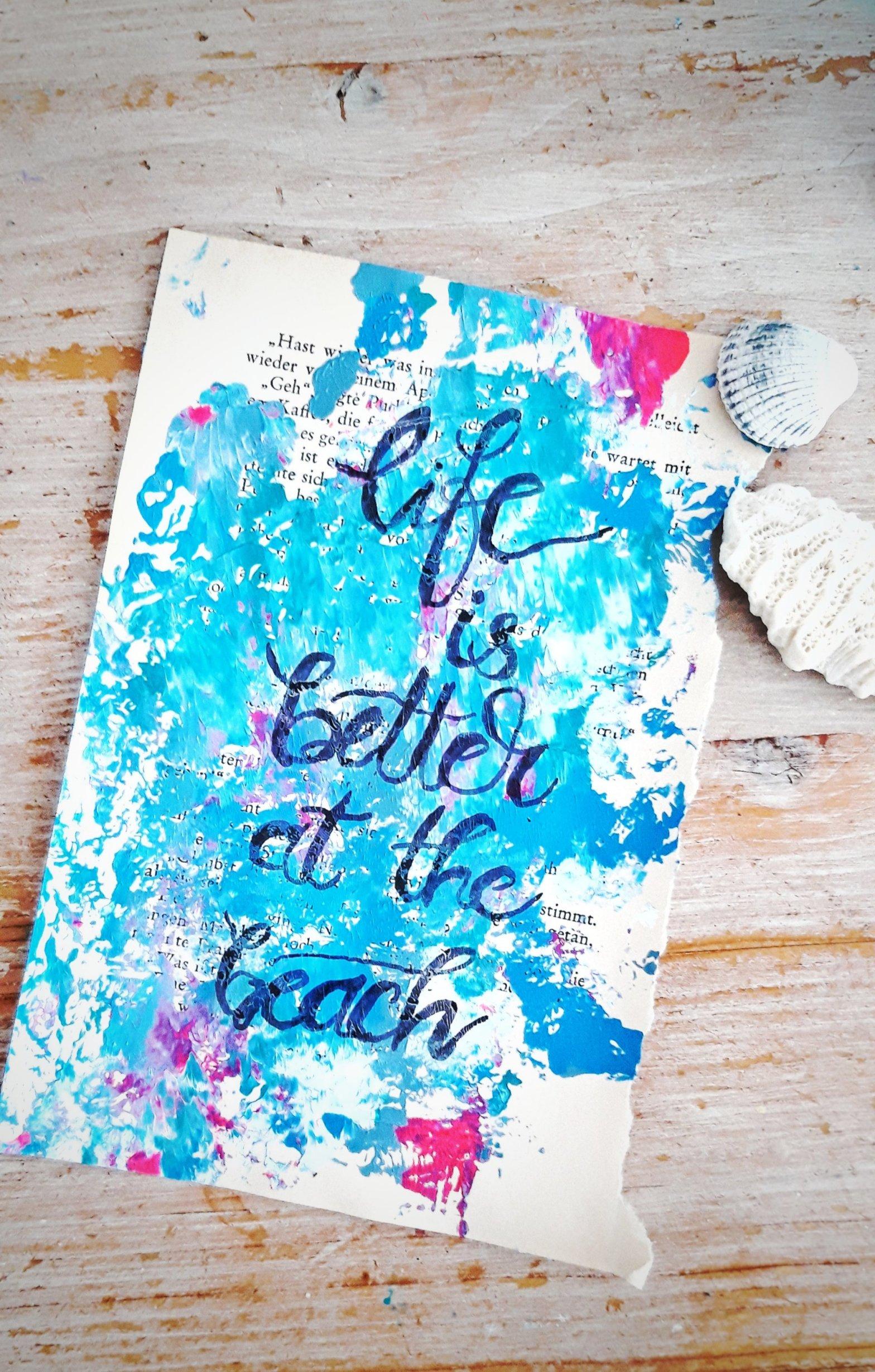 Acryl auf Buchseite