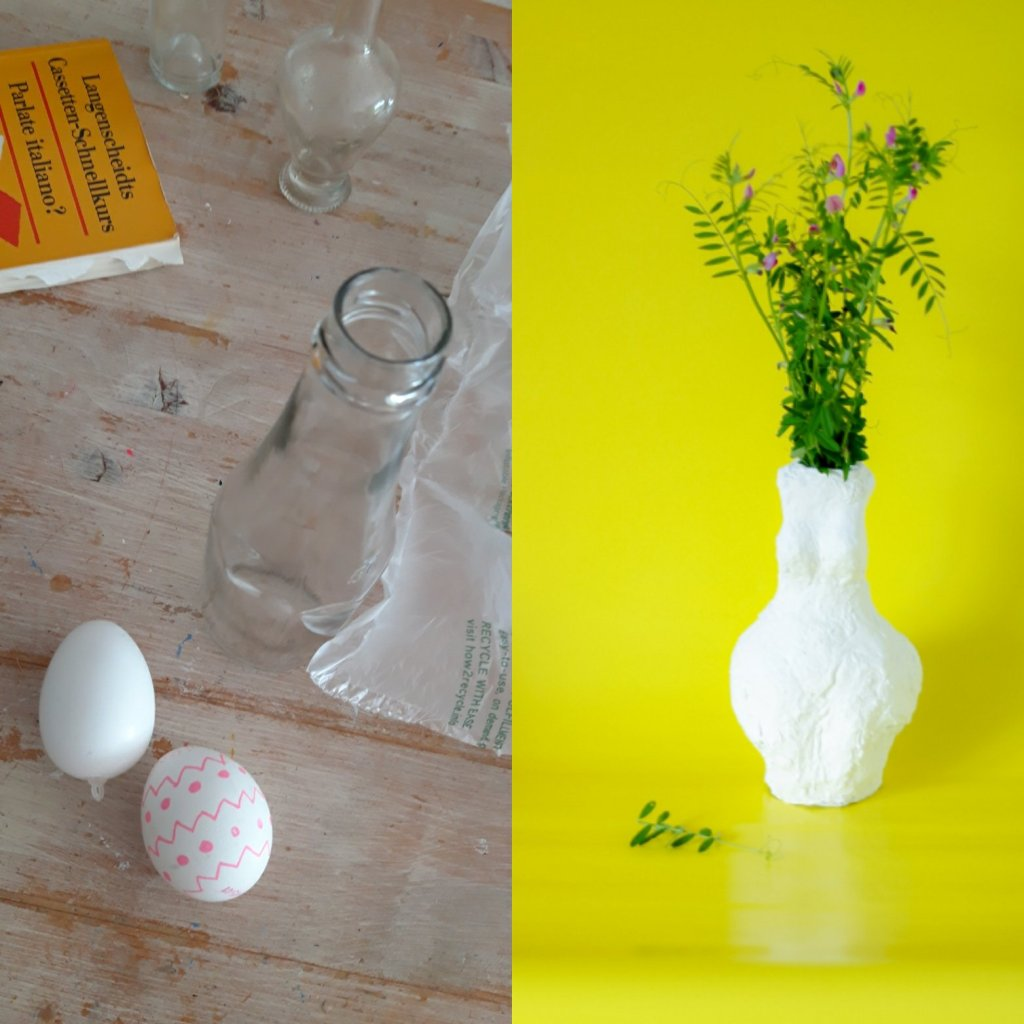 Aus ein paar Abfällen, wie altes Glas und alte Zeitungen lässt sich im Handumdrehen ein Kunstwerk selber basteln. Mit etwas Zeit und Spaß entsteht eine tolle Vase.